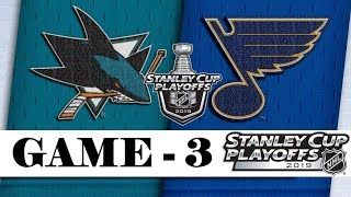 San Jose Sharks vs St. Louis Blues | Western Conference final | Game 3 | NHL 2018/19 | Обзор матча