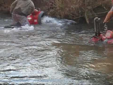 Atv's in deep water, Tennessee creek riding