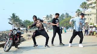 Nonstop, Bdash & Poppin John (3 International stars dancing on Mumbai Beach)