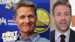 Steve Kerr is 'making excuses' for the Rockets outworking the Warriors - Max Kellerman | First Take
