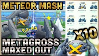 METEOR MASH METAGROSS GYM TESTS IN POKEMON GO | METEOR MASH IS OP | MAXED OUT SHINY METAGROSS