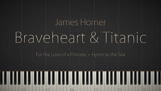 Braveheart & Titanic: Piano Suite - A James Horner Tribute \\ Synthesia Piano Tutorial