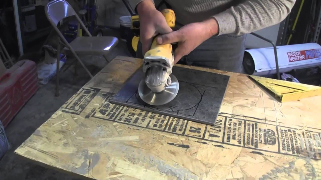 How To Cut Porcelain Tile Using An Angle Grinder Youtube