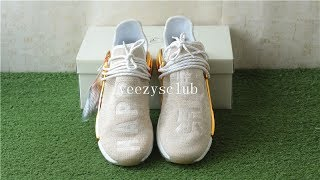Pharrell x Adidas NMD Human Race Golden Happy F99762 review from kicksclubs.com