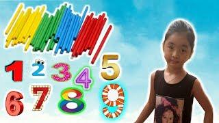 Dạy bé học đếm số tiếng việt từ 0-9| bé tập nhận biết màu sắc❤ BimBim Tivi ToysReView ❤