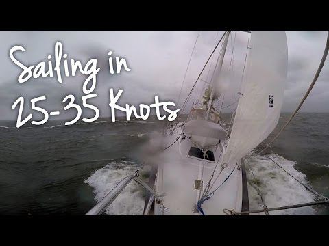 Sailing  in North Easter 25-35 knots Near Gale