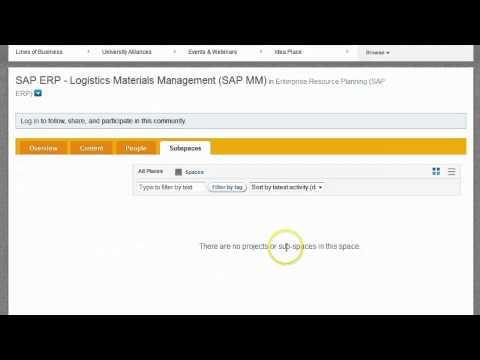 Buscando el foro de MM del ERP SAP en la nueva SCN (SAP Community Network)