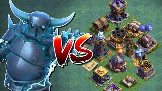 "SUPER PEKKA vs ALL DEFENCES in ""Clash of Clans"" - New Update [2018] - New Troop Attacks in CoC!"