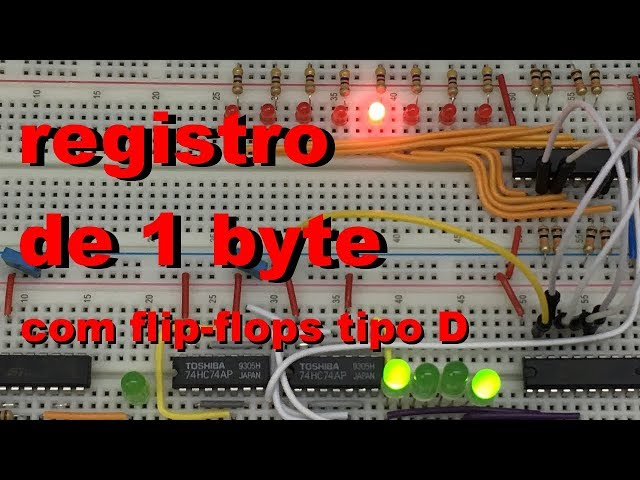 ARMAZENANDO UM BYTE COM FLIP FLOPS | Conheça Eletrônica! #035