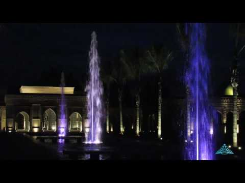 Dynamic fountain at  private villa in Marrakech (Morocco)