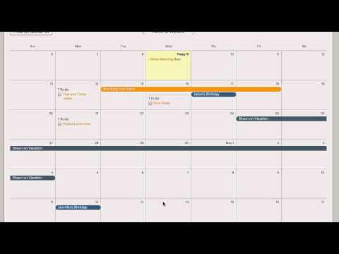 Basecamp Demo - Calendar