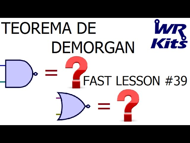 TEOREMA DE DEMORGAN | Fast Lesson #39