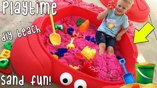 Beach in Our Backyard Playtime!!