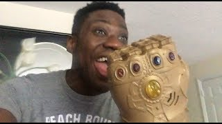 When your brother finds the Avengers Infinity War Gauntlet