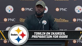 """Tomlin on Conner: """"Probably going to be limited some in the early portions of the week"""""""