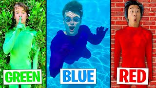 Using only ONE Color in HIDE AND SEEK! (CAMOUFLAGE)