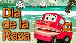 Celebrando El Dia de la Raza con Barney El Camión -   Videos para Niños