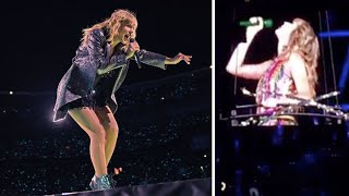 The hilarious moment Taylor Swift got stuck in the air during her concert