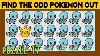 Find The Odd Pokemon One Out | Spot The Odd Emoji One Out | Find The Difference, Emoji Puzzles