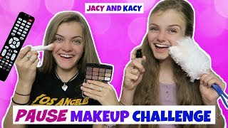 Pause Makeup Challenge ~ Jacy and Kacy