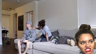 HICKEY PRANK ON GIRLFRIEND!! (SHE FREAKS OUT)