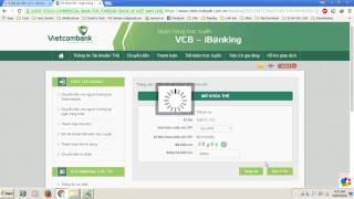 Hướng dẫn mở khoá thẻ VISA DEBIT của VIETCOMBANK