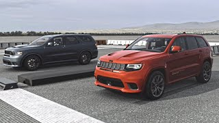Jeep Grand Cherokee Trackhawk vs Dodge Durango SRT | Drag Race