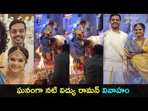 Comedian Vidyu Raman got married