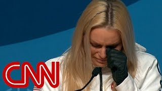 Lindsey Vonn moved to tears at Olympics