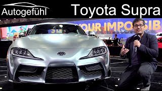 All-new Toyota GR Supra REVIEW Exterior Interior Premiere sibling of BMW Z4 - Autogefühl