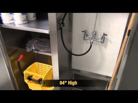 Double Width Mop Sink Cabinet by Advance Tabco