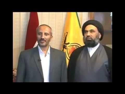 شاهد.. وفد حوثي يلتقي كتائب للحرس الثوري في العراق