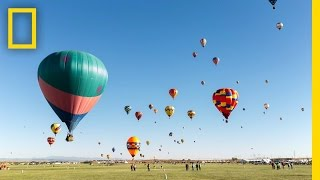 Colorful Time-Lapse of Hot Air Balloons in New Mexico | Short Film Showcase