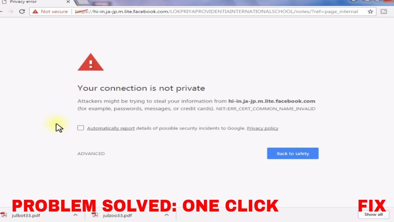 Fix Your Connection Is Not Private In Chrome Firefox Fix In One