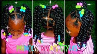 Pooh Gets A Style Like Big Sister | Crochet Ponytails | Kids 3c/4c Hair