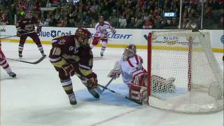 Chris Kreider scores a sick goal at the 2010 Beanpot 2/8/10 HD