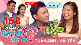 Quyen laughed at the chair with the big guy afraid of snakes Tuan Anh - Hai Yen | BMHH 168 😁