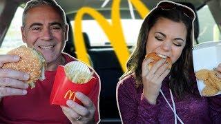 McDonalds Mukbang w/ My Dad | Steph Pappas