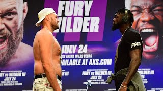 EPIC! Deontay Wilder vs Tyson Fury TRILOGY: Longest FACE—OFF OF ALL TIME: Face To Face since 18 mths