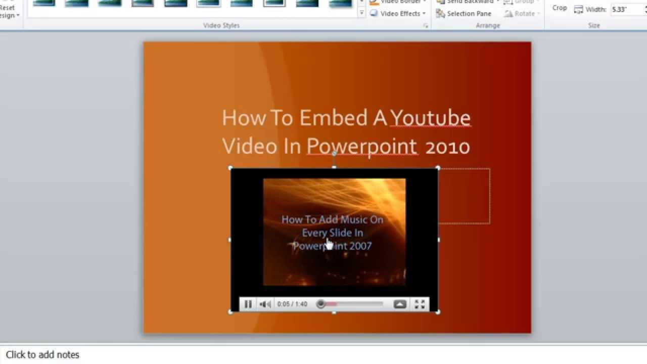 Youtube Video In Powerpoint