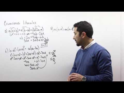 Ecuaciones literales 2