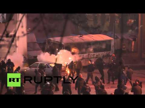 Kiev Clashes Video: Teargas, fire, smoke as Ukrainian protests turn violent