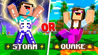 EXTREME Would You Rather vs Noob1234 & Girl1234! - Minecraft
