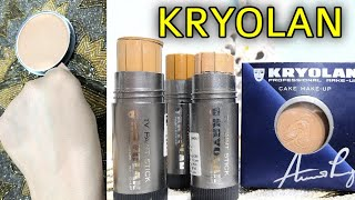 Kryolan Tv Paint Stick Review, How to Apply kryolan tv stick, Apply Bridal Base at Home