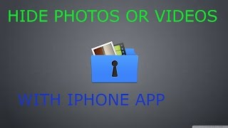 HIDE PHOTOS WITH AN APP ON IPHONE IN HINDI