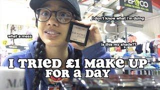 i tried £1 make up for a day (poundland) | clickfortaz