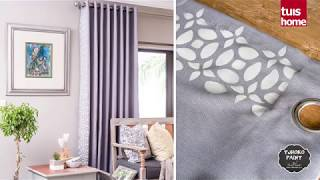 Decorate Your Curtains With Paint
