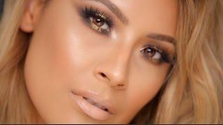 Dramatic Gold sparkle Smokey Eye - Desi Perkins