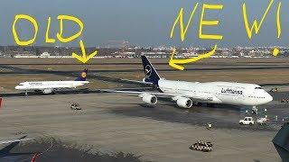 LUFTHANSA NEW LIVERY Boeing 747-8 D-ABYA Landing + Takeoff at Berlin Tegel Airport