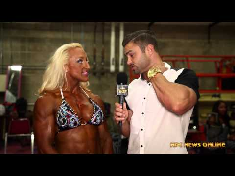 Mary Cain Women's Bodybuilding Overall Winner at the 2015 NPC USA Championships